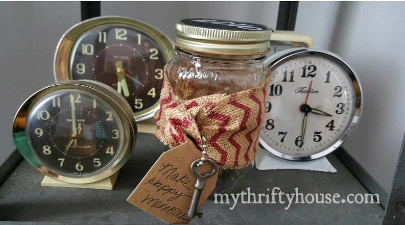 happy memories jar burlap