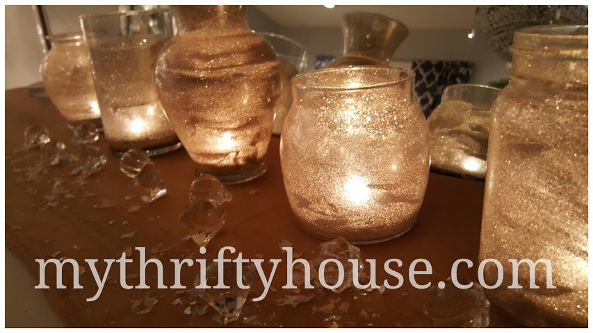 DIY Glitter Candle Jars with Lights