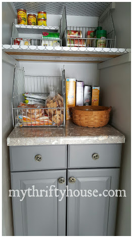 pantry makeover reveal cabinet