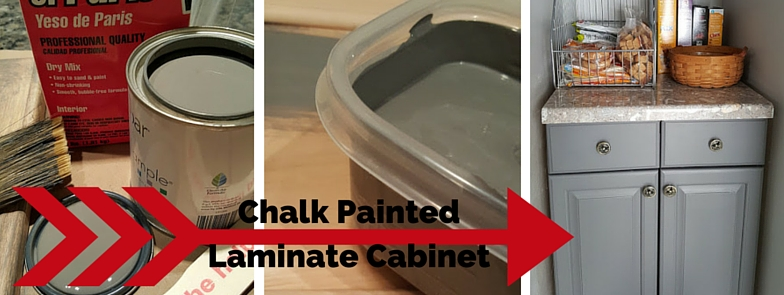 Homemade Chalk Paint Laminate Cabinet