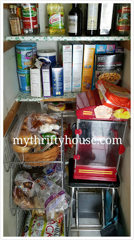 Before pic of disorganized pantry 3