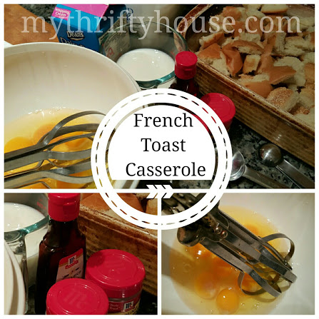 French Toast Casserole Collage