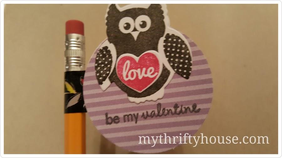 Valentine's Day Pencil topper Owl