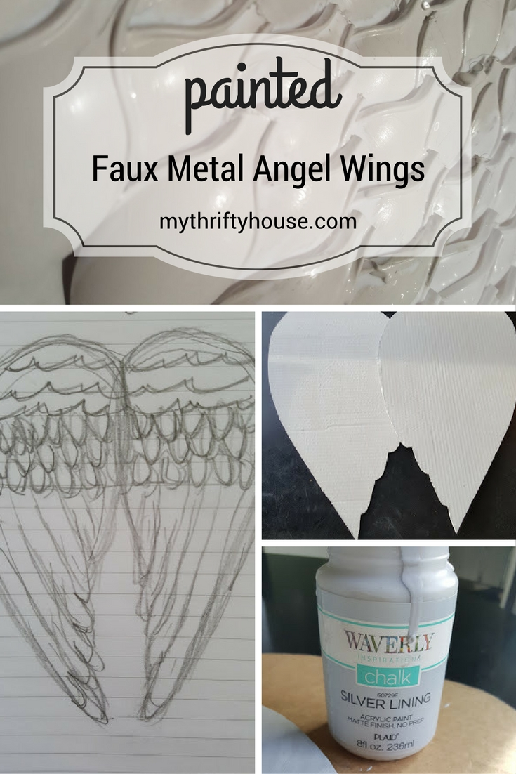 painted-faux-metal-angel-wings-made-from-cardboard-and-plastic-spoons