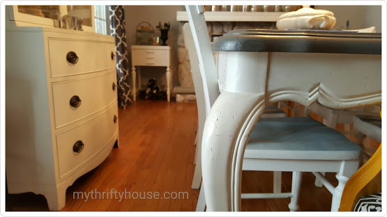 mismatched furniture white