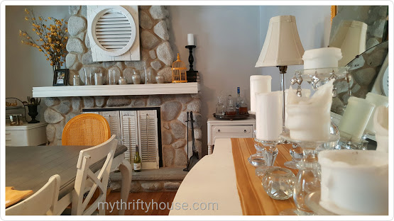 mismatched furniture focal point