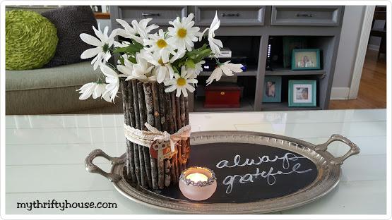 Twig Flower Vase on Table