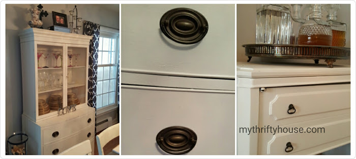mismatched furniture hardware