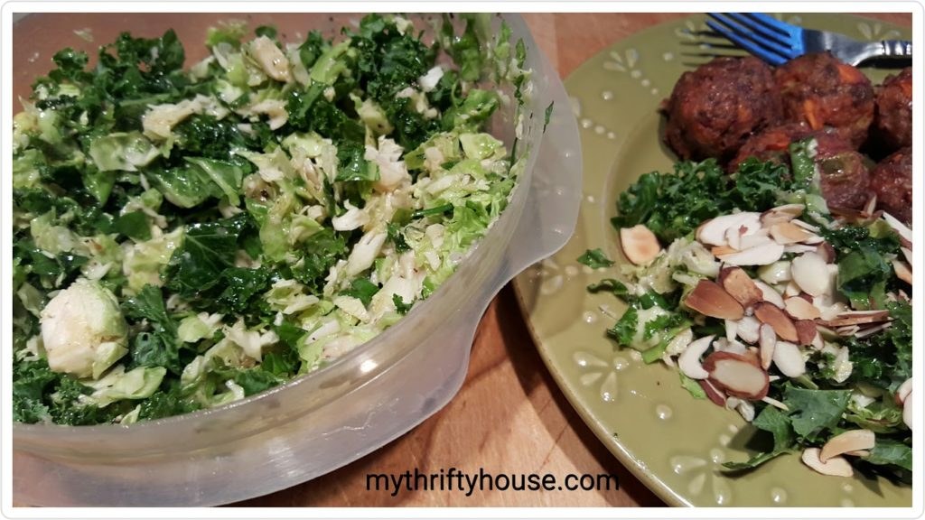 whole30 day 19 brussel sprout kale salad