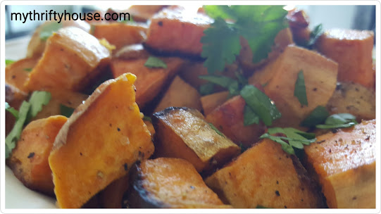 whole30 day 28 sweet potatoes