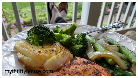 whole30 day 25 dinner on the porch