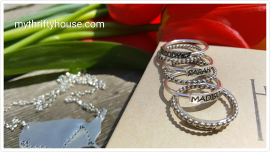 personalized ring stack