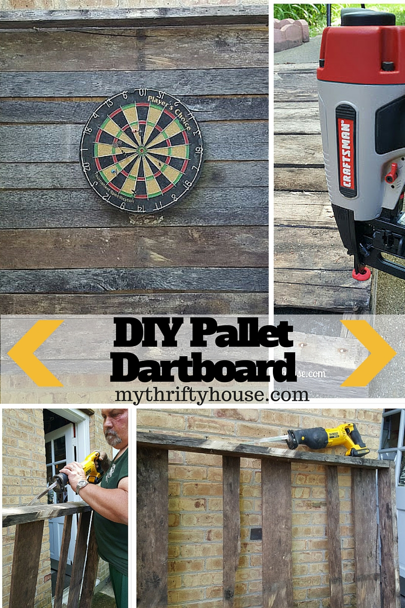 Father's Day Gifts DIY Pallet Dartboard
