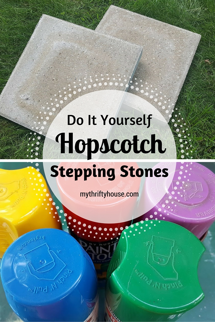 Hopscotch stepping stones before collage