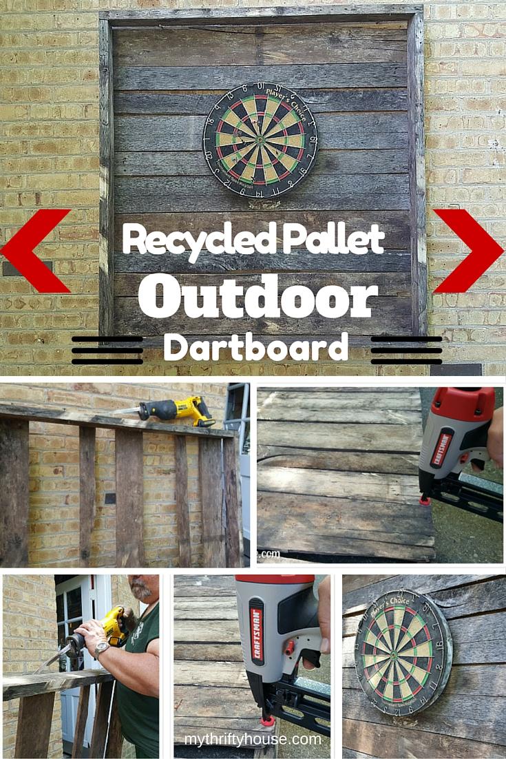 Outdoor Dartboard Pinterest Collage