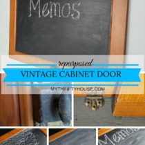 Waste Not Wednesday Week 4 Denise's Vintage Cabinet Door Chalkboard