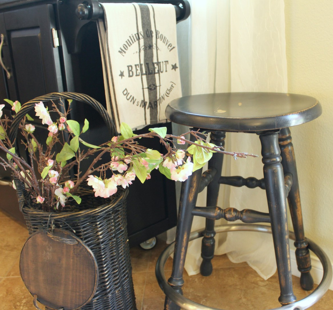 Waste Not Wednesday Week 4 Kellie's Favorite Pottery-Barn-Black-Finish-Barstool