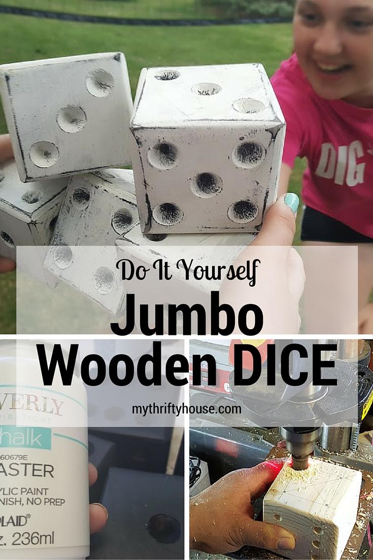 Do It Yourself Jumbo Wooden Dice
