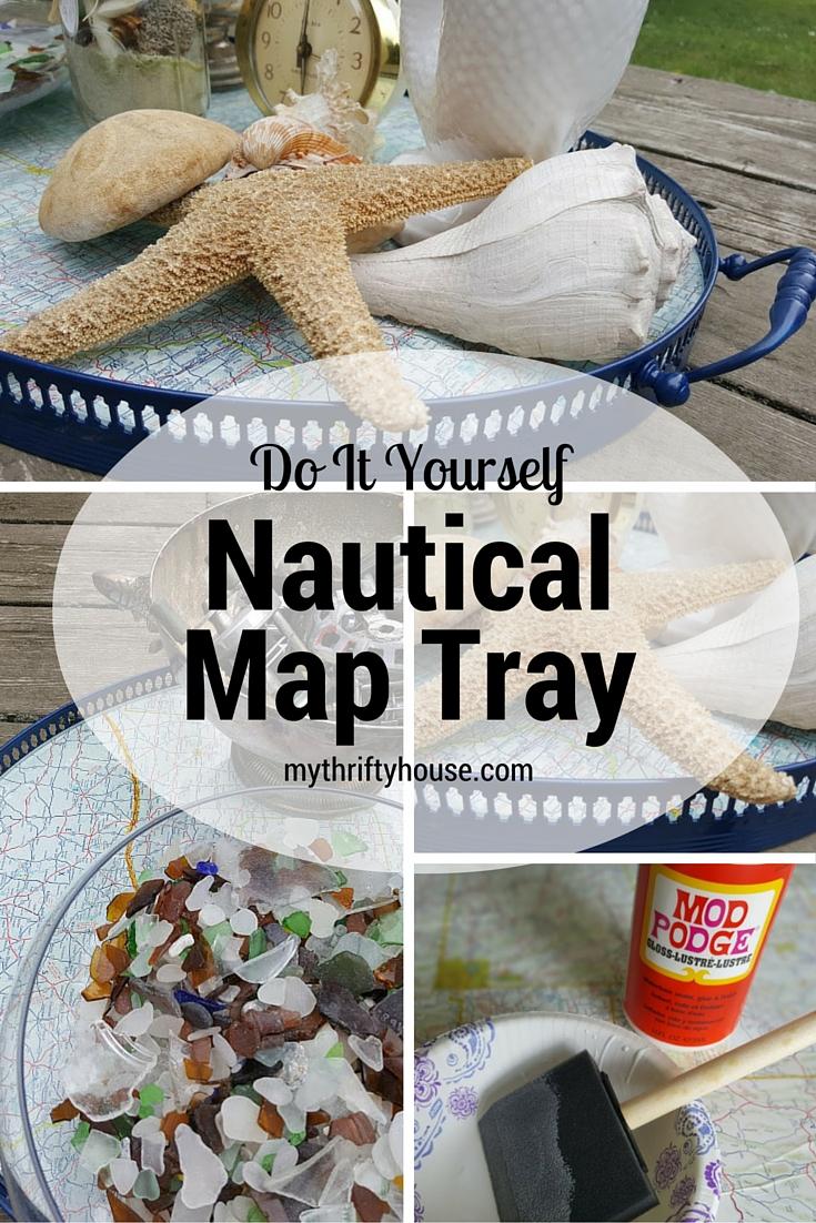 Waste Not Wednesday Week 8 Denise's Nautical Map Tray