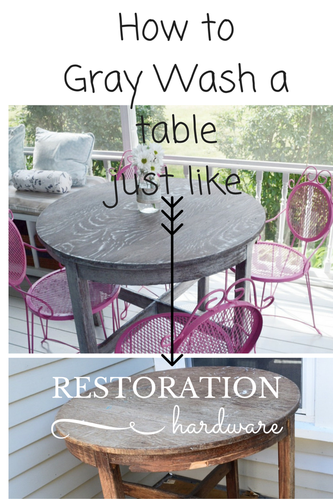 Waste Not Wednesday Week 8 Kellie's White Washed Table