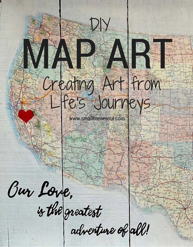 Waste Not Wednesday Week 8 Toni's Map Art