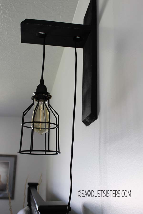 waste not wednesday week 9 Kellie's favorite custom wall sconces submitted by Sawdust Sisters