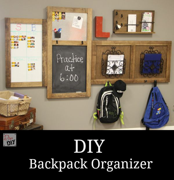 DIY back pack and organization station made by LeAnne at Diva of DIY
