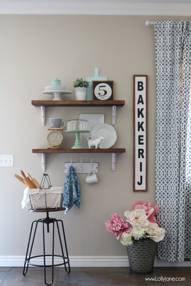 Farmhouse Chic Open Shelves submitted by Lolly Jane
