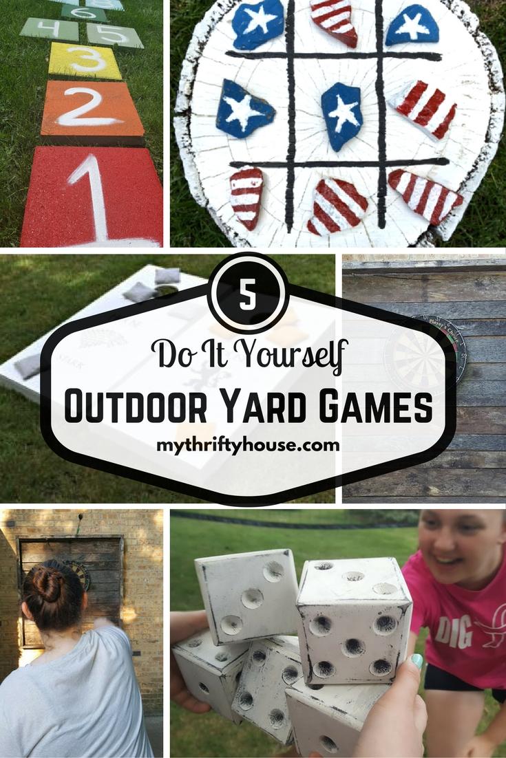 Round Up of 5 DIY Outdoor Yard Games