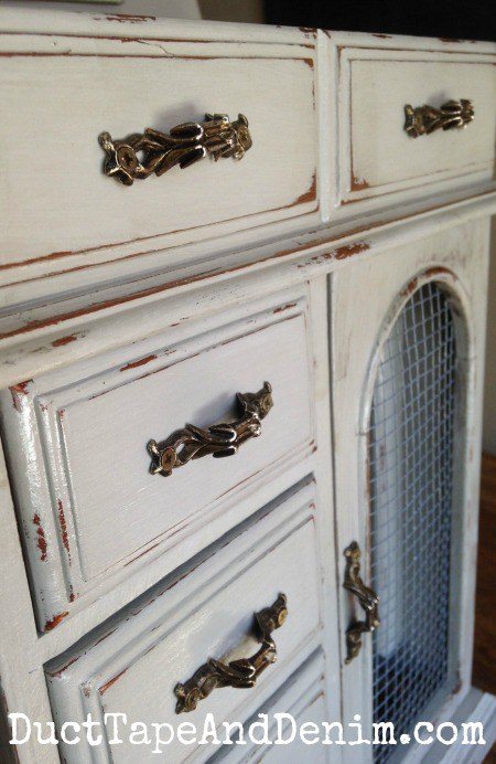 Waste Not Wednesday Week 10 Featured Post, Thrift Store Jewelry Cabinet Makeover submitted by Duct Tape and Denim