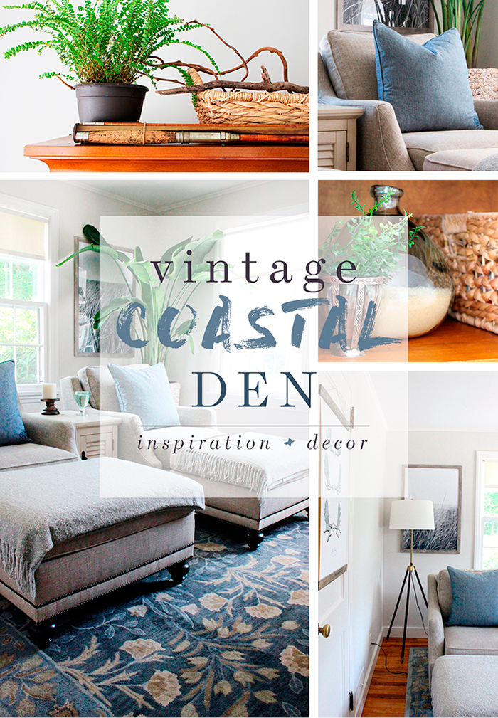 Waste Not Wednesday Week 10 Featured Post, Vintage Costal Den Makeover submitted by Idigo and Honey
