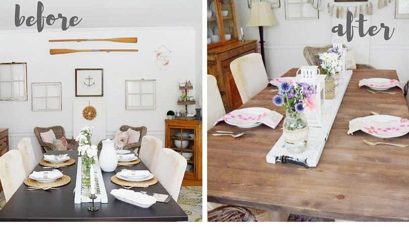 Waste Not Wednesday Week 10 Kellie's Dining Room Table Makeover