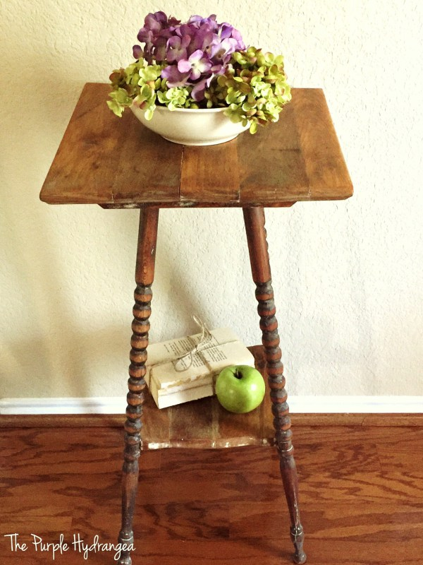Waste Not Wednesday Week 11, Spindle Leg Table Makeover submitted by The Purple Hydrangea