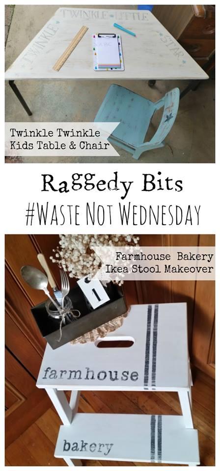 Waste Not Wednesday Week 11, Twinkle Twinkle Little Star Kids Table made by Raggedy Bits