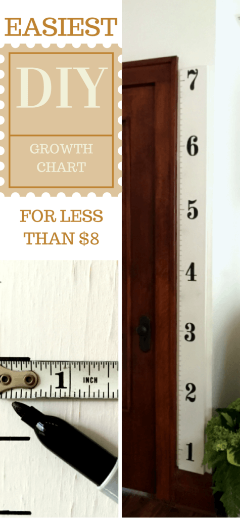 Waste Not Wednesday Week 12, DIY Growth Chart submitted by 1915 House