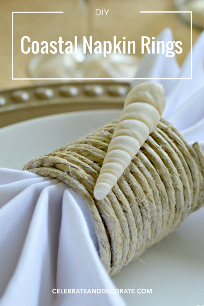Waste Not Wednesday Week 12, DIY Nautical Napkin Rings submitted by Celebrate and Decorate