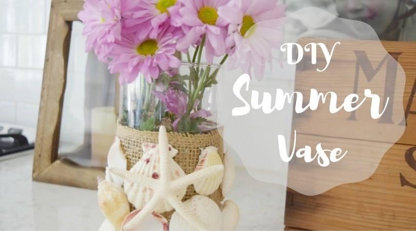Waste Not Wednesday Week 12, DIY Shell Vase from Kellie at Gracefully Vintage