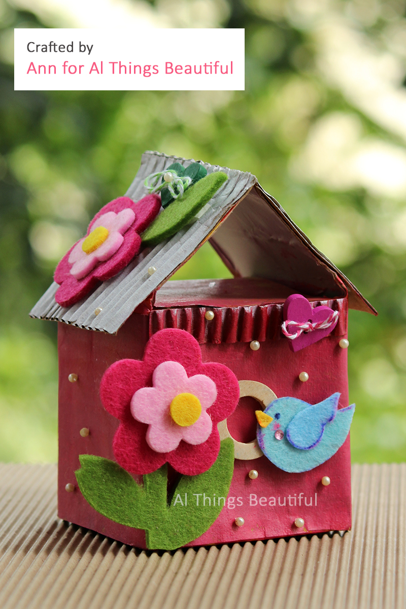 Waste Not Wednesday Week 13, Repurpose Tetra Pak Carton Birdhouses submitted by Al Things Beautiful
