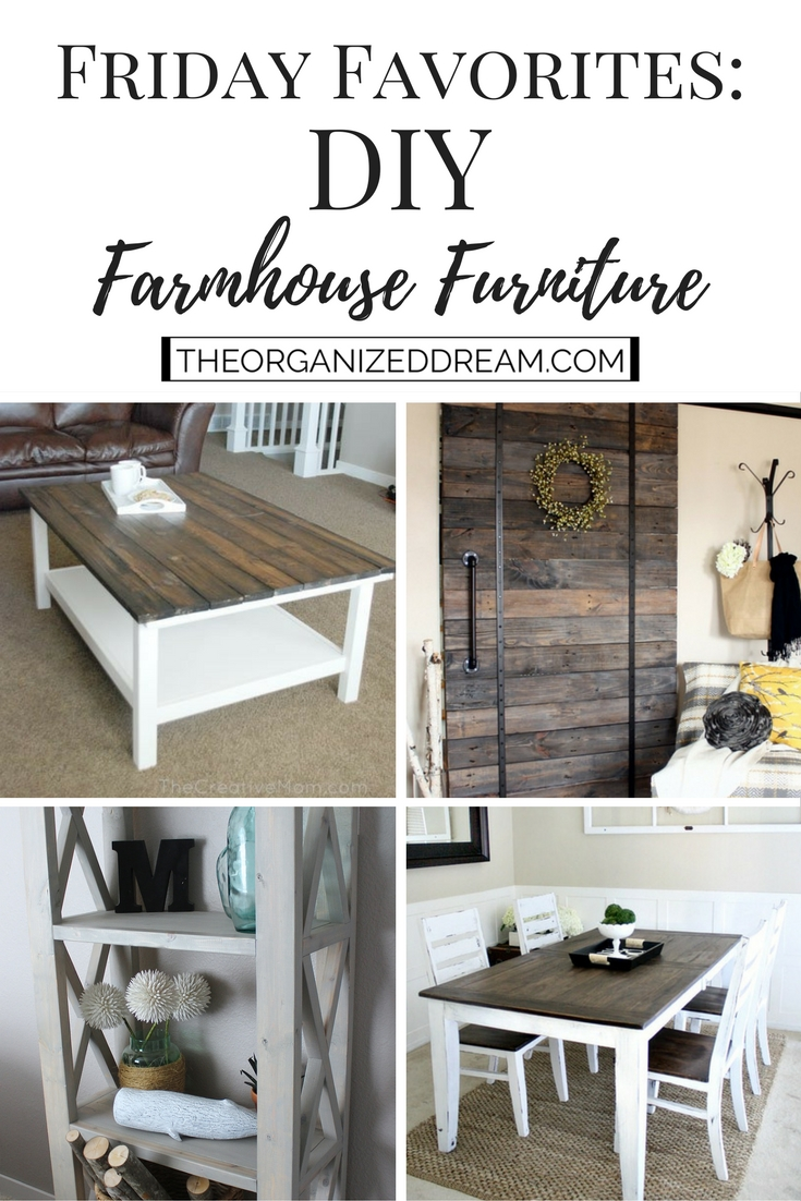 Waste Not Wednesday Week 14, DIY Farmhouse Furniture submitted by The Organize Dream