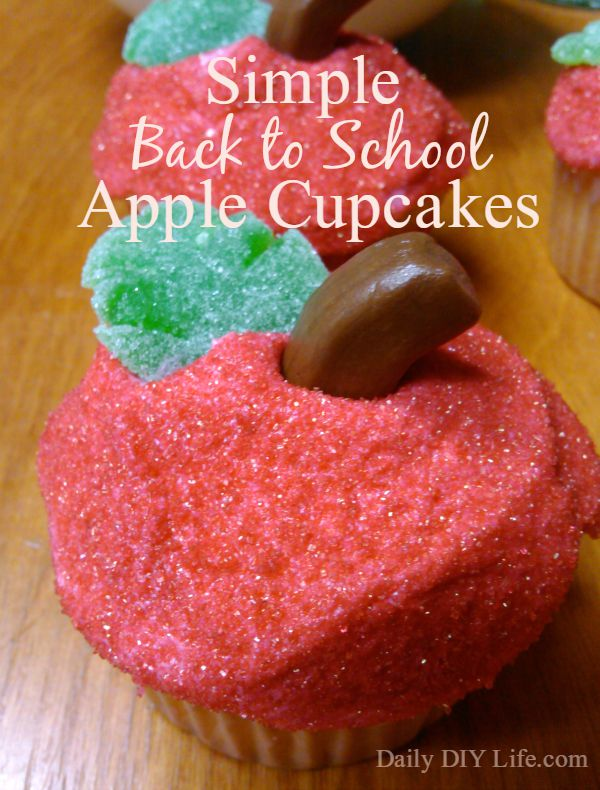 back to school cupcakes made by Heather at Daily DIY Life