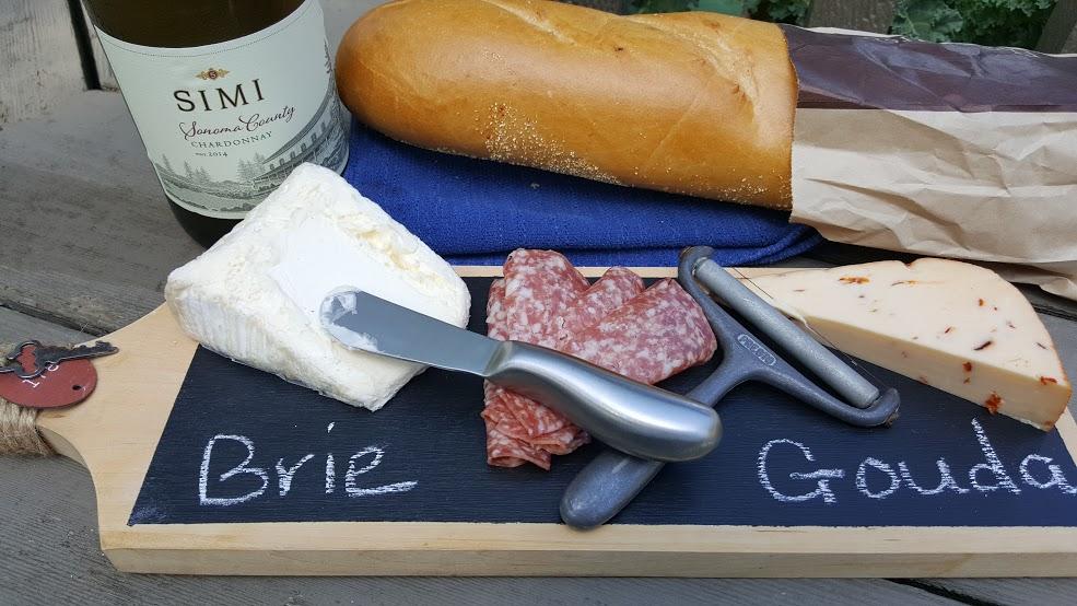 chalkboard cheese platter snacks