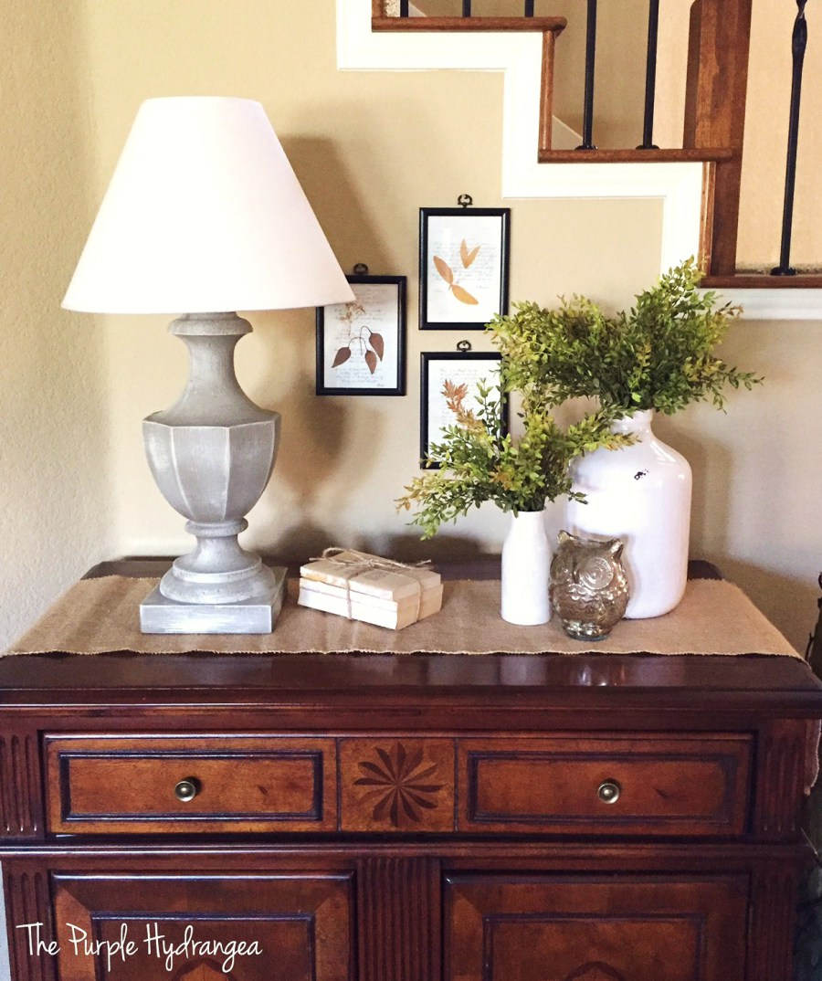 Beautiful Lamp-makeover from The Purple Hydrangea