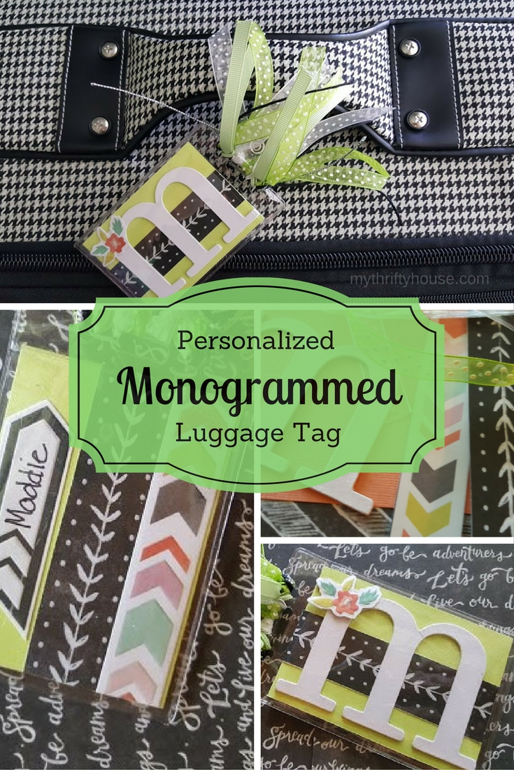 personalized monogrammed luggage tag or backpack tag