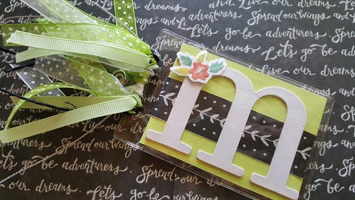 personalized monogrammed luggage tag
