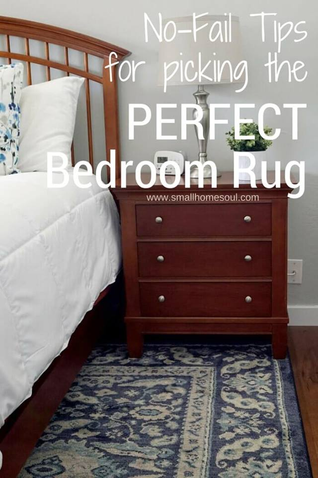Waste Not Wednesday Week 15, How To Pick the Perfect Bedroom Rug from Toni at Small Home Soul
