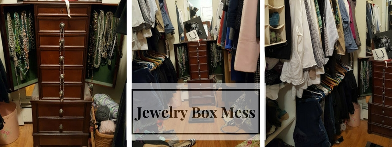 Messy Master Bedroom Closet Makeover Preview Jewelry Box