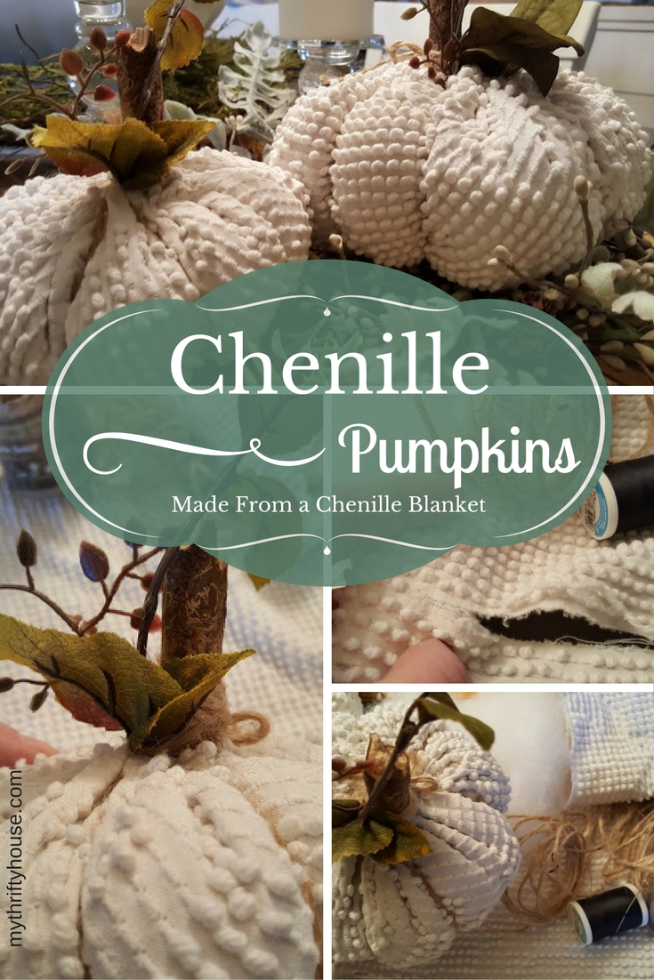 chenille-pumpkins-made-from-a-torn-blanket-from-denise-at-my-thrifty-house