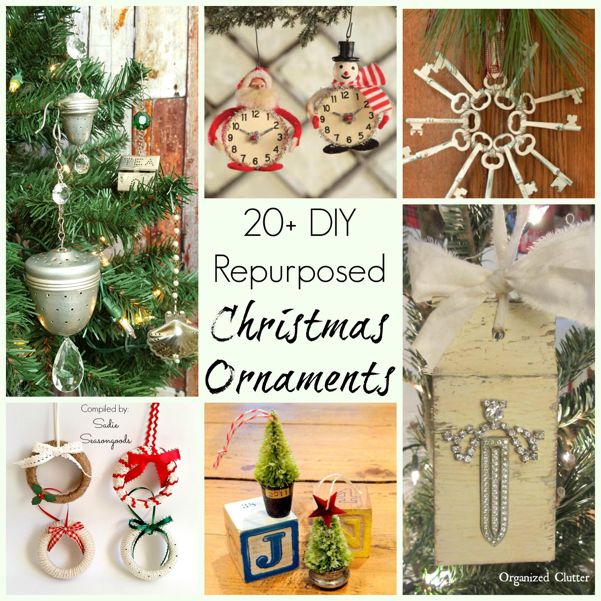 Repurposed And Upcycled Farmhouse Style Diy Projects: DIY_Repurposed_Upcycled_vintage_Christmas_Ornament_craft
