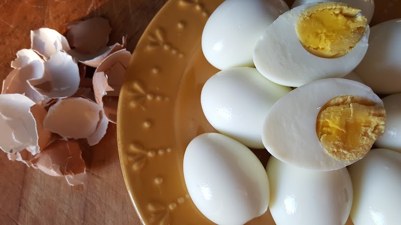 Perfectly peeled hard boiled eggs in less than 30 minutes.