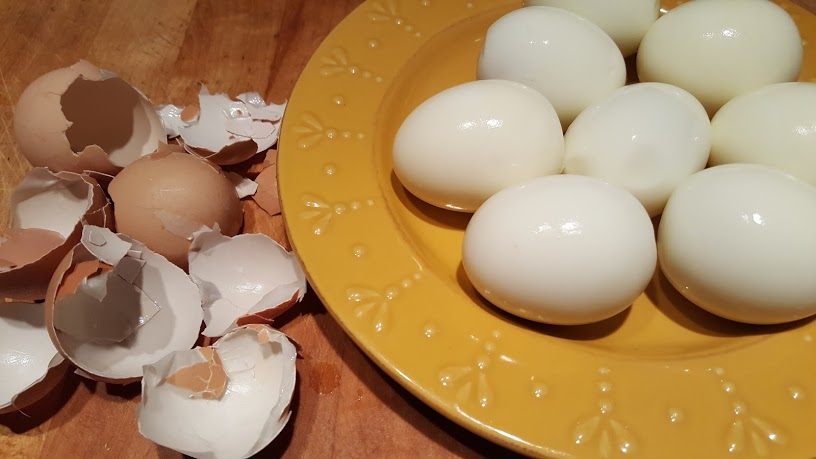 The Instant Pot makes perfectly peeled hard boiled eggs.